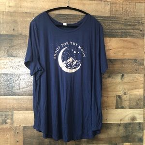 Old Navy Shoot for the Moon Luxe Navy Tee